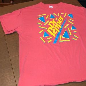 Pink Graphic Dr. Pepper Tee Shirt Size XL